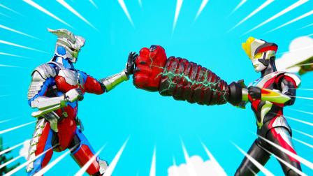 维克特利装备超级巨拳,机械奥特曼都不是对手