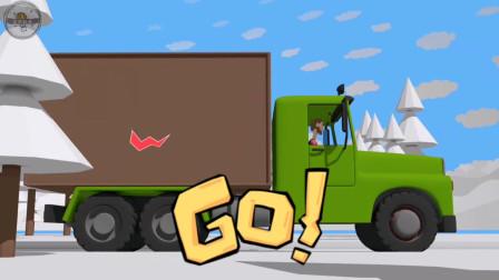 货车送货物路上发生雪崩,自卸车变身铲雪车清理路面,吊车来救援