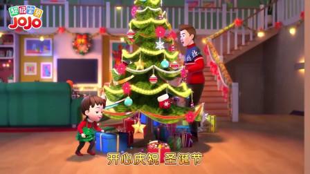 超级宝贝:老爸在布置圣诞树,这圣诞树真好看,老爸手艺真棒