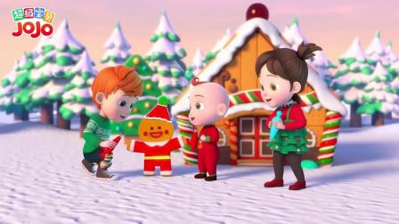 超级宝贝:圣诞小屋建好了,大家好厉害呀,圣诞老人快来吧