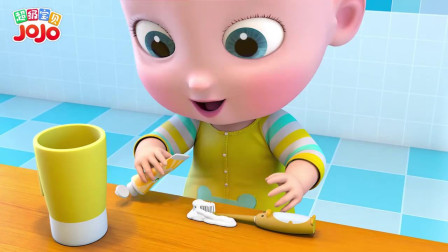 超级宝贝:这牙膏挤太多了,宝宝真是太浪费了,妈妈会生气的