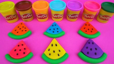 彩泥制作西瓜 变出可爱玩具
