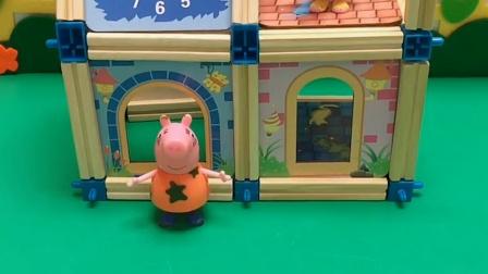 猪妈妈来找佩奇了,佩奇还上了房顶,猪妈妈就帮了佩奇
