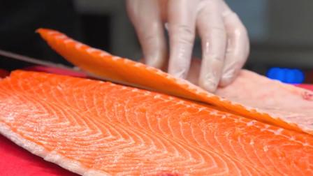 18岁刀工师傅应聘,开口要6800工资,老板:你先处理三文鱼看看值吗