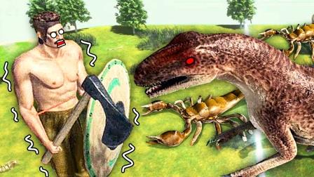 动物战斗模拟器 变异蠕虫伪装成胡萝卜一口把我吃了 成哔哔解说