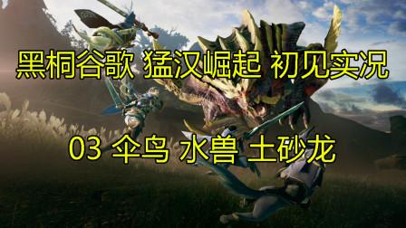 黑桐谷歌【怪物猎人 崛起】开荒实况 03 伞鸟 水兽 土砂龙