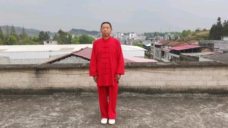 传统杨式85式太极拳(通城北港李恩龙2021.3.29初学时留影)