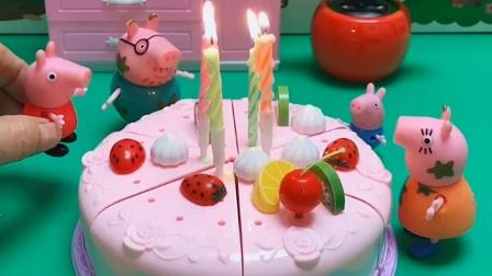 乔治生日有蛋糕,但大家都忘了佩奇的生日,佩奇伤心了