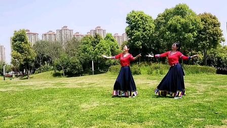 楚悦广场舞,原创《次真拉姆》