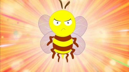 大头儿子和小头爸爸:大头再摘鲜花,蜂蜜不高兴了,蜂蜜要攻击他