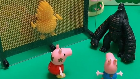 坏蛋把猪爸爸猪妈妈抓了,乔治和佩奇来救,小朋友们快帮帮他们吧