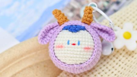 胖丫手作-可爱六小只 紫色小鹿