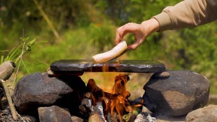 简简单单吃个石板猪油糕!