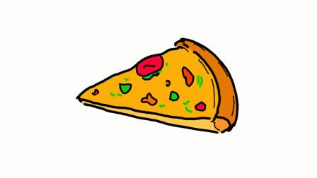 卡通披萨简笔画 - 一步一步教你画