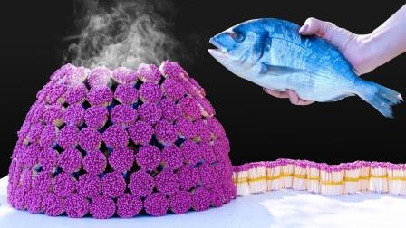 50000万根火柴能烤熟一条鱼?老外亲测,隔着屏幕都闻到香味