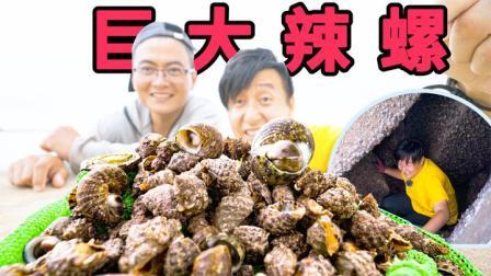 30多岁第一次见这么大的辣螺,钻进大石洞,一次就搞到20多个