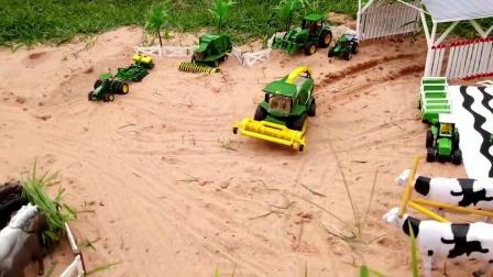 农场玩具,大花牛和农机玩具