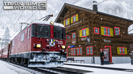 TSW2 阿罗萨线 #3:迷惑脱轨 小雪天从库尔出发下山 | 模拟火车世界 2