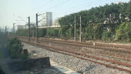 【车厢视角】Z97次通过广州站进广州东站16道停车