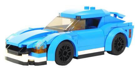 组装乐高城酷炫跑车玩具