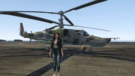 卡50黒鲨武装直升机在航母上起飞精彩瞬间