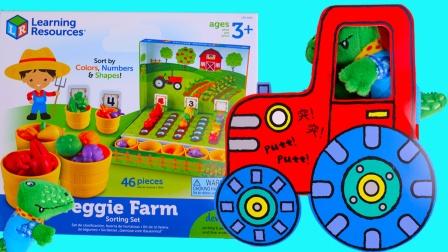 鳄鱼先生的蔬菜农场丰收套装玩具