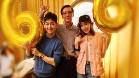 林志颖带老婆为岳父庆祝生日,生了3个孩子老婆还和少女一般可爱