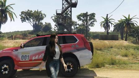 美女驾驶长城哈佛H9发现了瞭望塔要上去吗?
