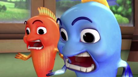跳跳鱼世界:小红看到了另个自己,这是怎么回事,小红吓坏了
