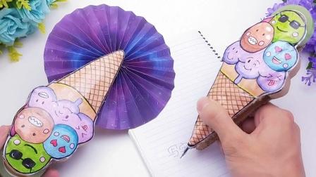 做多功能折叠迷你扇子,可当笔写字,还能玩捏捏乐,扇风更凉快!