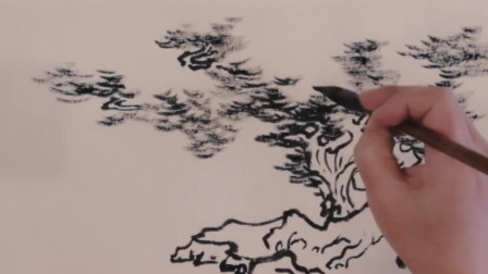 墨笔夏季树木与写意山水的关系