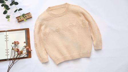 毛儿手作【第M508期】棒针编织日光棉坚果儿童套头毛衣视频教程
