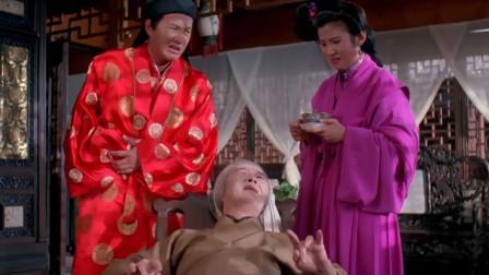 许冠杰用腹语假扮女婿安慰老娘,不料演技太差,一下就穿帮了