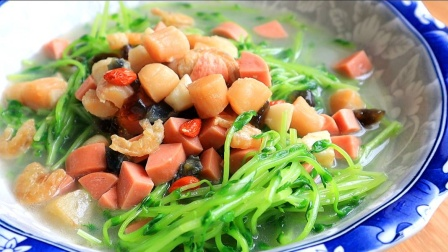上汤豆苗,清爽美味,少油健康,这才是大家都能学的真正家常菜