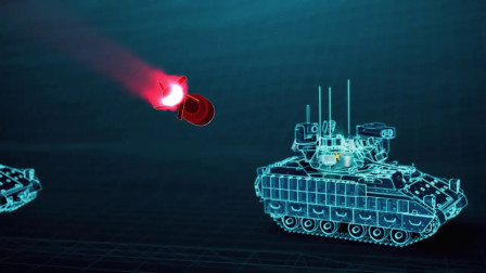 装甲战车轻型主动拦截防护系统(APS)动画示意_机译字幕(3284)