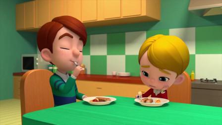 百变布鲁可:单倪突然牙疼了,他不能吃饭了,老爸快帮帮单倪吧