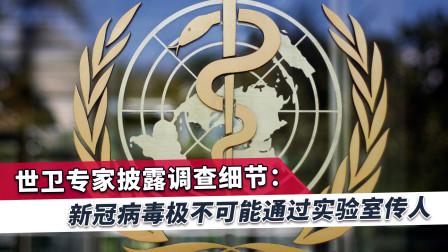 世卫专家组报告:新冠病毒不可能通过实验室传人!西方谣言被戳破
