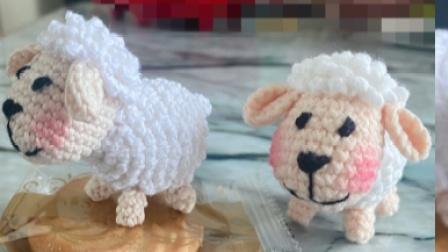 锡仔手编小羊挂件玩偶毛线编织教程