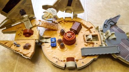 微型飞船变形汽车赛道玩具展示
