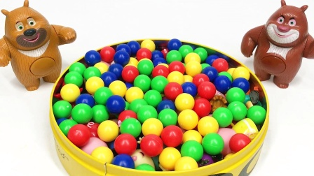 熊出没熊大熊二拆彩色球球礼盒 小猪佩奇系列玩具