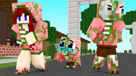《我的世界怪物学院》猪猪成为强壮的铁傀儡,神龙的丘比特弓箭