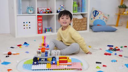 小小发明家用布鲁可儿童积木创意拼搭