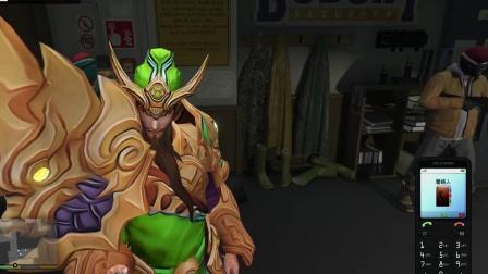 王者荣耀里的关羽在GTA5游戏中不会用手机?