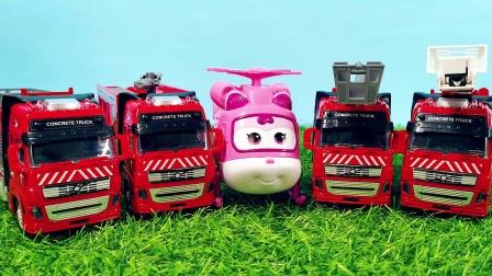 超级飞侠小爱带大家认识消防车 救援系列玩具