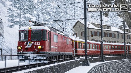 TSW2 阿罗萨线 #4:下山继续 在小雪中驶入库尔市区 | 模拟火车世界 2