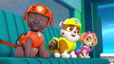 汪汪队:自从有了机器狗,大型设备器械都是他开,狗狗们也很放心