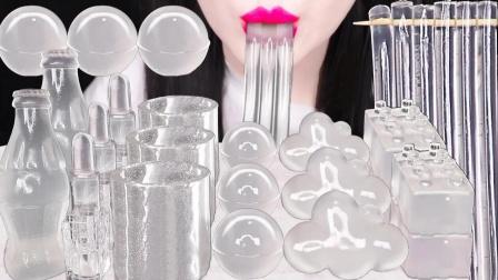 用白凉粉自制创意果冻,造型丰富多样,无色透明就像水晶