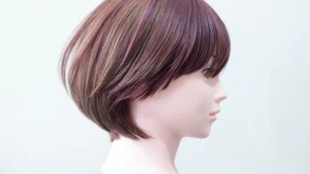日系甜美短发剪发技术教程