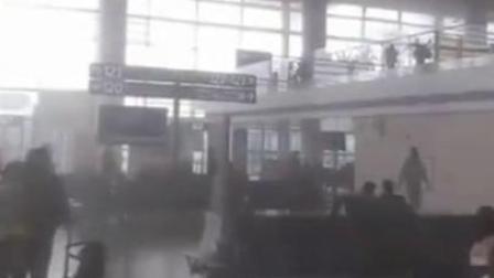 南京禄口机场吸烟室着火