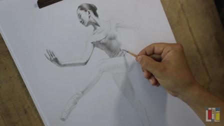素描芭蕾美女系列_1